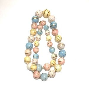 Jewelry - Vintage pink yellow blue white necklace